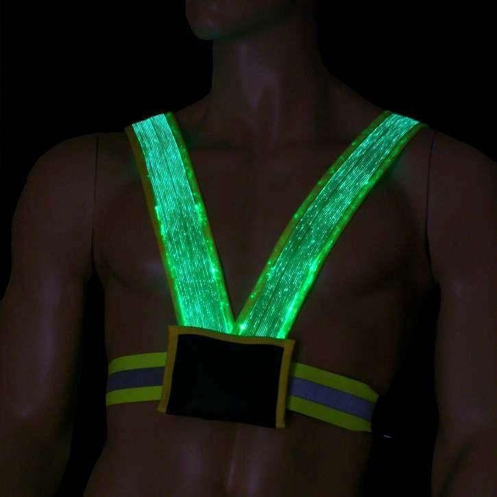 Prevencie Glowing Príslušenstvo: The Lumigram Safety Vest Svetlá cestu pre bežcov