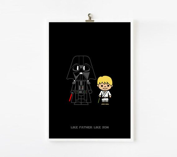 Printable Father Day Gift Like Father Like Son Darth by loopzart. $8.00, via Etsy.Darth Vader, Ideas, Father'S Day Gifts, Printables Fathers, Sons Darth, Vader Luke, Stars Wars, Gift Cards, Gifty Gift