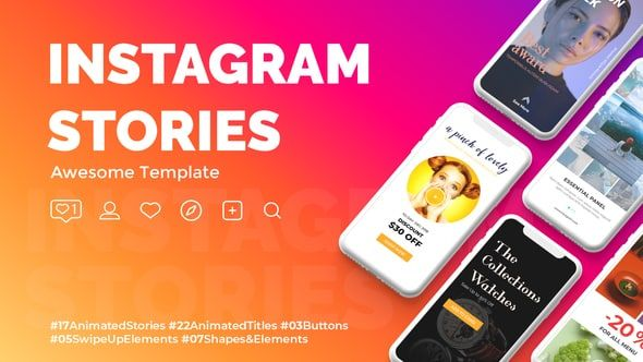 73 Instagram Stories Templates Collection Freebies Instagram Story Template Instagram Story Instagram