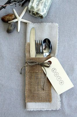 #wedding #table #burlap #rustic  Home Goods Ala Carte
