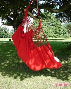 NewLine Hanging Chair XL red [XL] - €99.00 : High Quality Hammocks, Hanging Chairs, Stands and Accessories, Marañon World of Hammocks