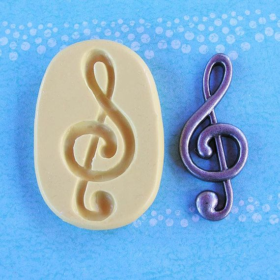 Music Note Mold Flexible silicone - G Treble ( Treble clef ) - Resin - Polymer clay - FOOD Safe - Fondant - Chocolate - Candy - Sugar S304M on Etsy, $5.95