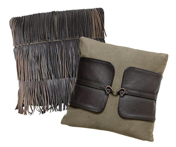 Декоративные подушки от Albert & Shtein в ковбойском стиле отлично подойдут к минималистичному дивану.