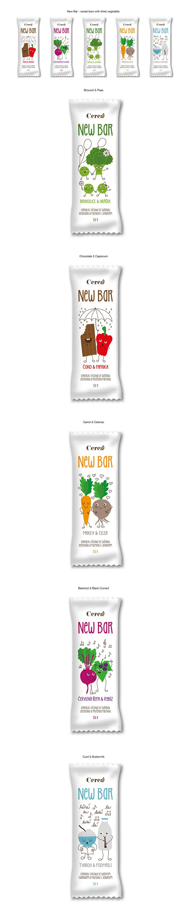 Packaging Design for New Bar - cereal bars with dried vegetable. by Ven Klement on Behance