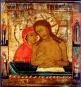 When Is Holy Saturday 2015?: Icon of Extreme Humility (Christ being lowered into the tomb).