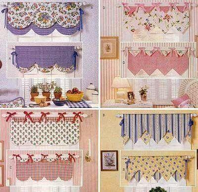 17 mejores ideas sobre cenefas de ventanas en pinterest for Ideas para cortinas de cocina