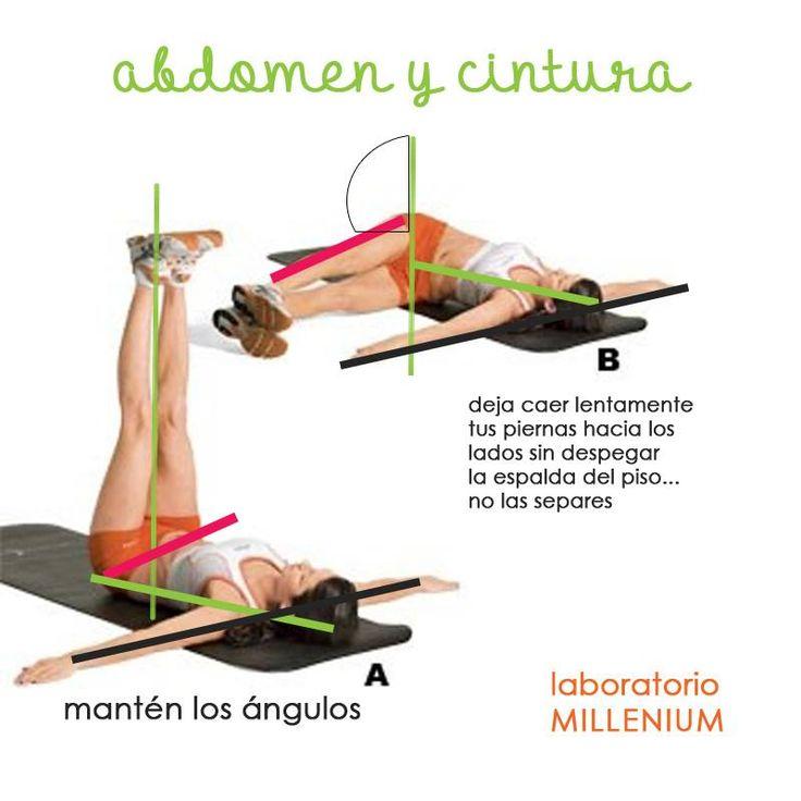 #EJERCICIO para el abdomen y la cintura Contraer el abdomen, no sólo te permite evitar la flacidez sino también te ayuda a proteger tu espalda de posibles lesiones.