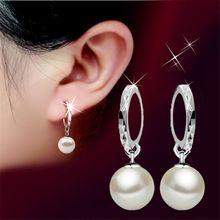 Nueva Manera de La Alta Calidad de Las Mujeres AAA Aretes de Perla Espejo de Diseño Partido Grado Oído Joyería Del Grano Para Las Mujeres Regalos DGN0012(China (Mainland))