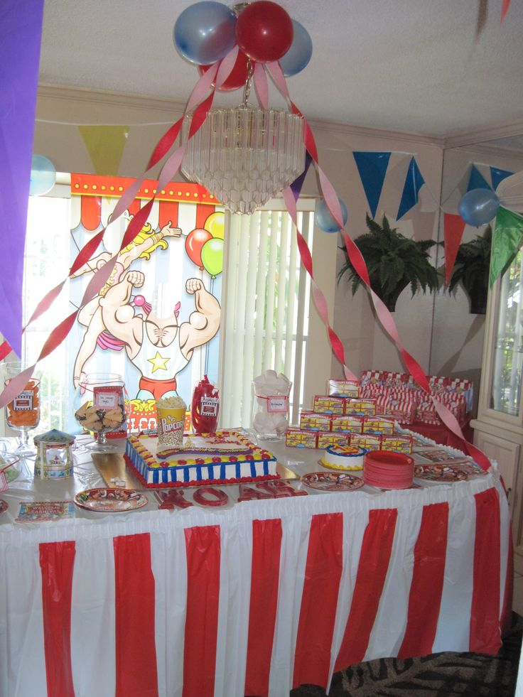 90 best noah 39 s 1st birthday circus party images on for Table design for 1st birthday