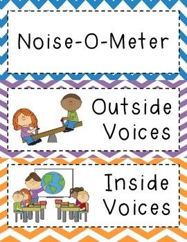 This is a cute chevron sign that can be printed, attached together and laminated for many years of use. This product can be used to help students be aware of how loud their voices should be during certain activities.