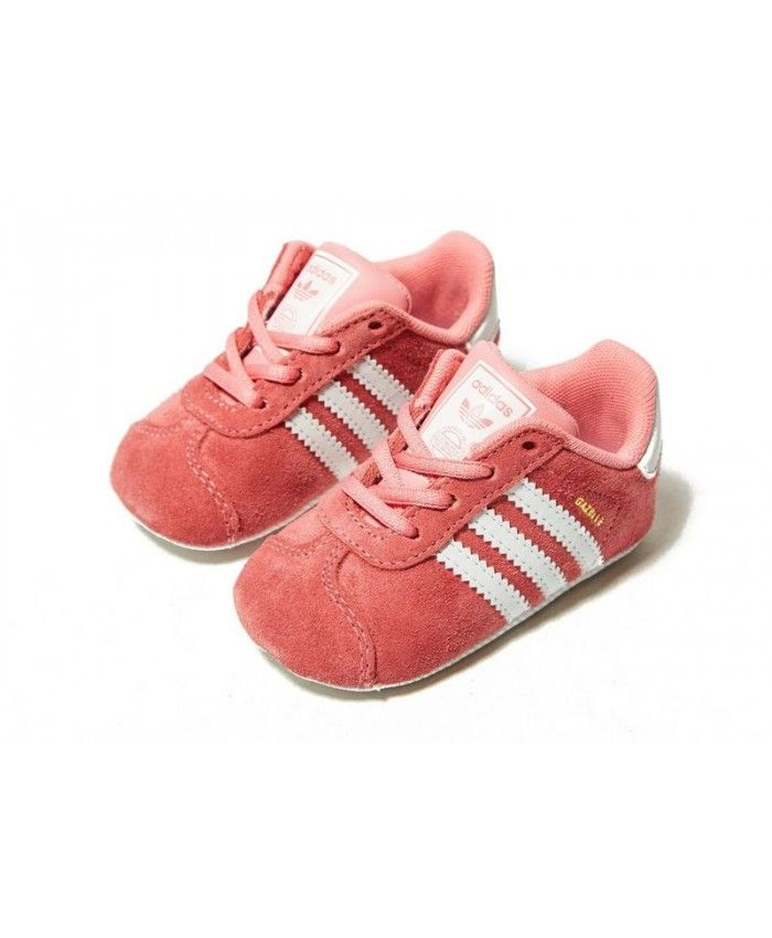 Kid's Adidas Originals Gazelle Crib Pink Sneakers 051986