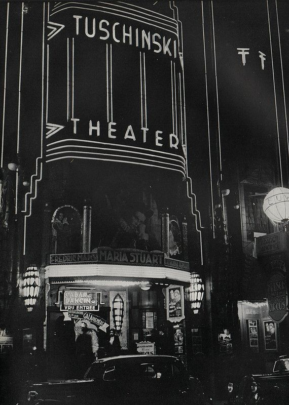 "1937 - 1940. Tuschinski Theatre at the Reguliersbreestraat in Amsterdam. The Tuschinski movie theater was acquired by Abraham Icek Tuschinski in 1921 at a cost of 4 mln guilders. The interior and exterior are a spectacular mix of styles: Amsterdam School, Jugendstil, Art Nouveau, Art Deco. When it first opened, the theater contained electro-technical features, then considered revolutionary. During the World War II the theatre was given the (non-Jewish) name ""Tivoli"". #amsterdam #1940…"