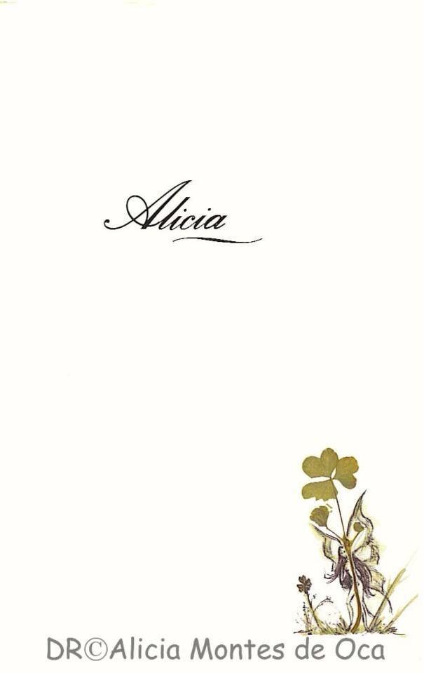 1. ALICIA Y EL TRÉBOL.