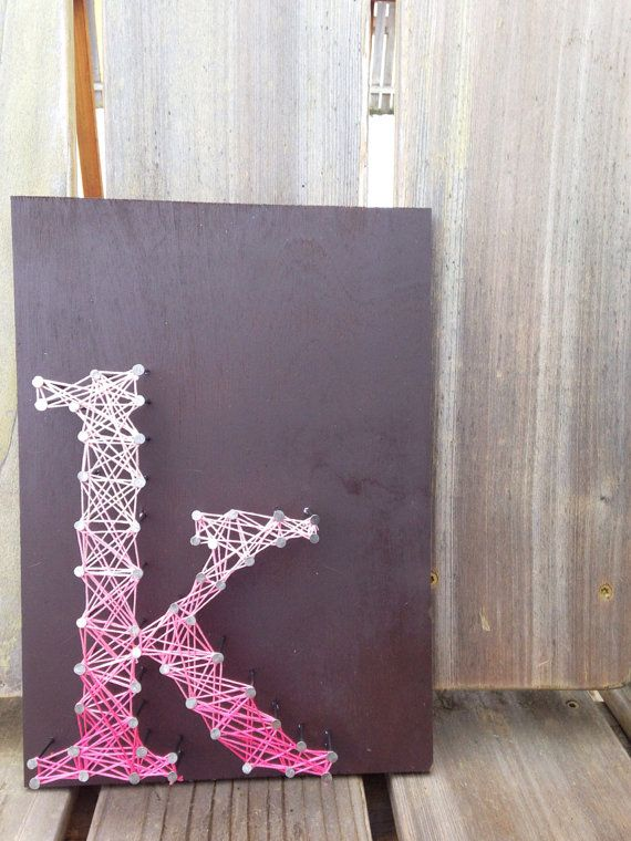 Letter K Typography String Art - Custom Letters