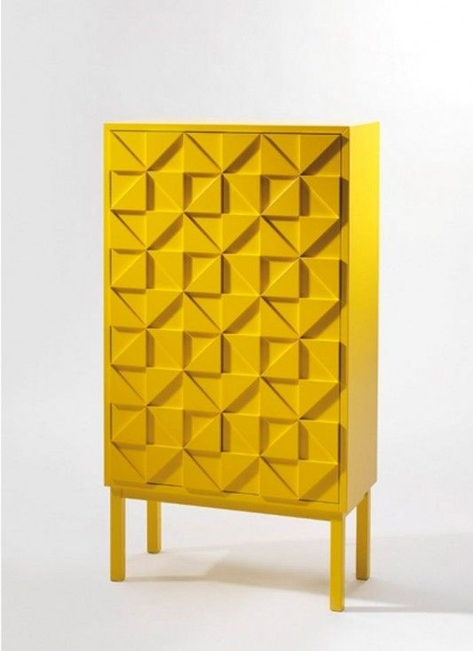 A2 collect cabinet. Simple geometric composition and bright colour, very effective.
