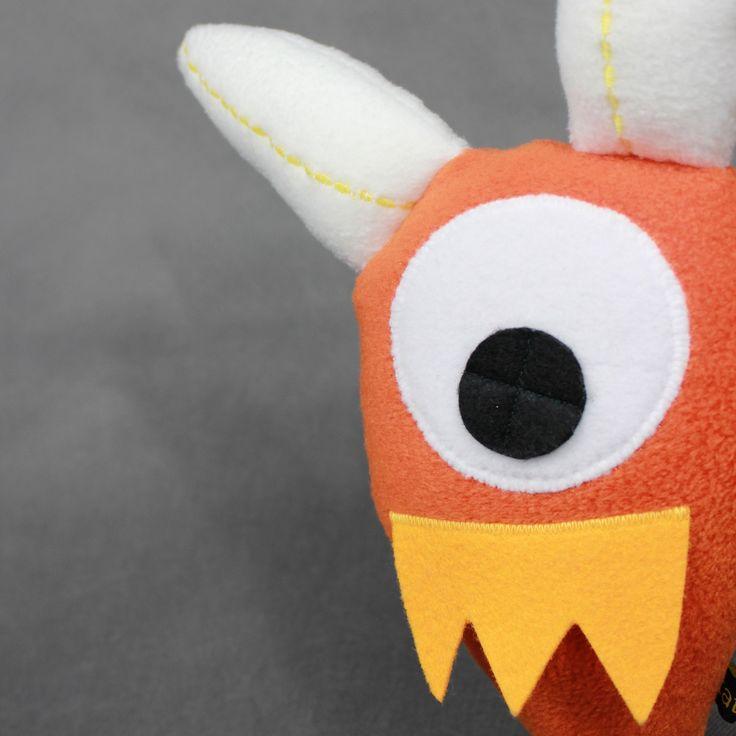 Uchatek - przytulanka-rękodzieło / Big-Ear-Monster - hand made toy