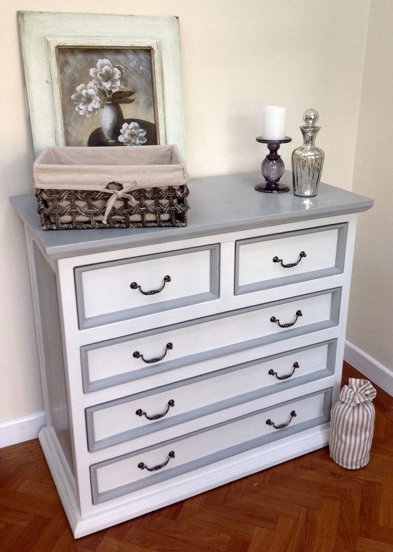 A substantial solid vintage pine dresser that oozes rustic charm! It has been lovingly sanded, primed and beautifully hand painted in Annie