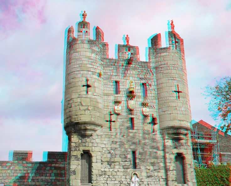 https://flic.kr/p/GH62YN | Micklegate Bar York 3D | anaglyph stereo red/cyan