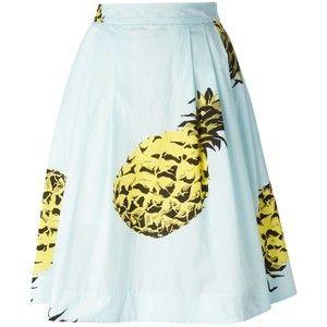 MSGM pineapple print midi skirt @kesimba3
