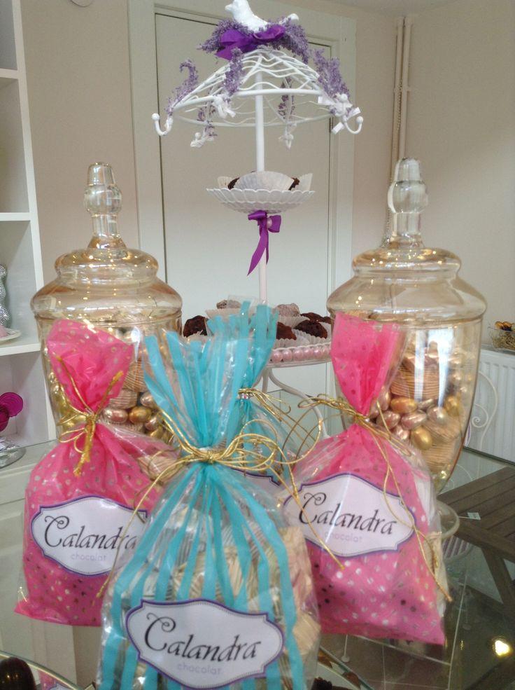Jar of chocolate.. bluee and pink ♥♡