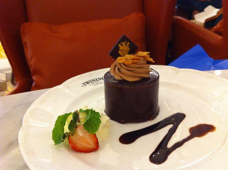 Deep in chocolate cake