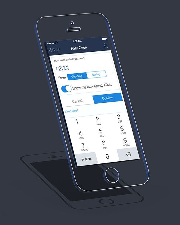 Chase App Redesign by Jared Chan, via Behance