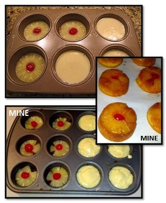 - Mini Pineapple Upside Down Cakes - De.lish.ous!! These were awesome for Thanksgiving dinner... perfect portion for a mini dessert after and easy clean-up because you can just grab and go.