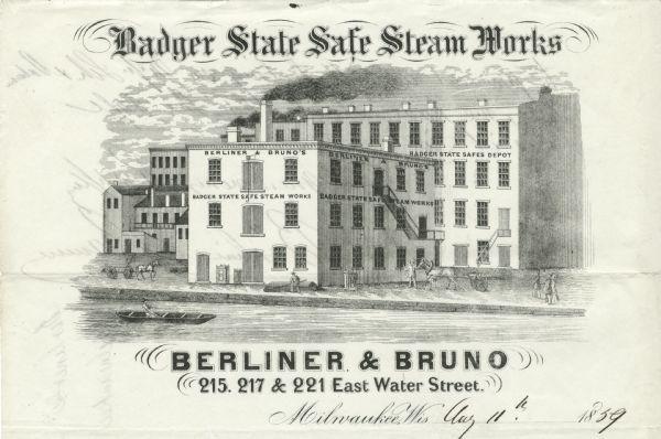 Badger State Safe Steam Works Letterhead | Print | Wisconsin Historical Society
