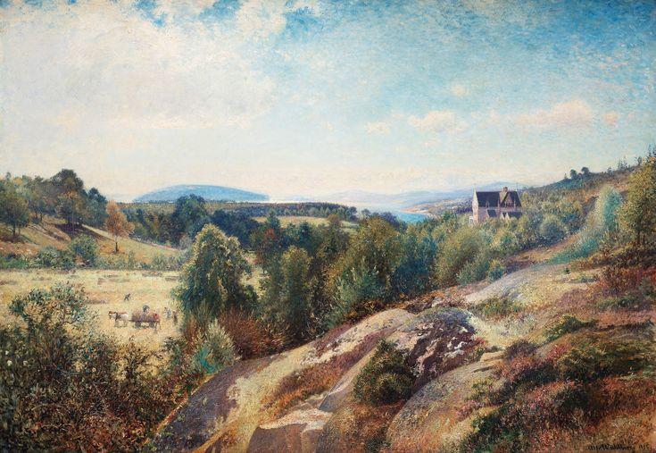 Alfred Wahlberg (1834-1906): Torreby vid Gullmarsfjorden, 1892