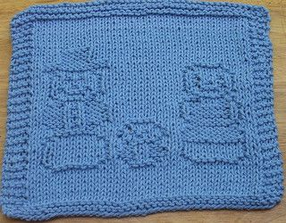Snowman Family Knit Dishcloth pattern by Lisa Millan ...
