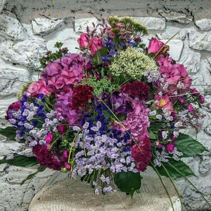 kolorowy bukiet kwiatów letnich