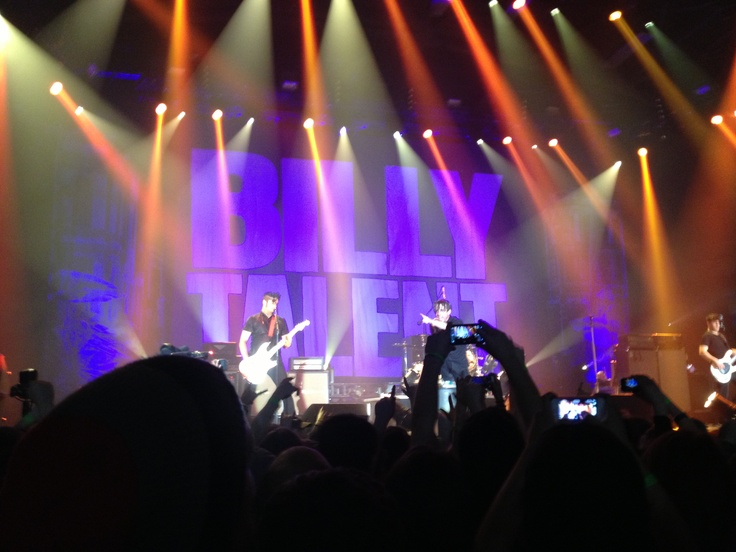 Billy talent! Mosh pit knocked me back.. I was front of the stage.. And hurt my shoulder.. Damn the concert was rough