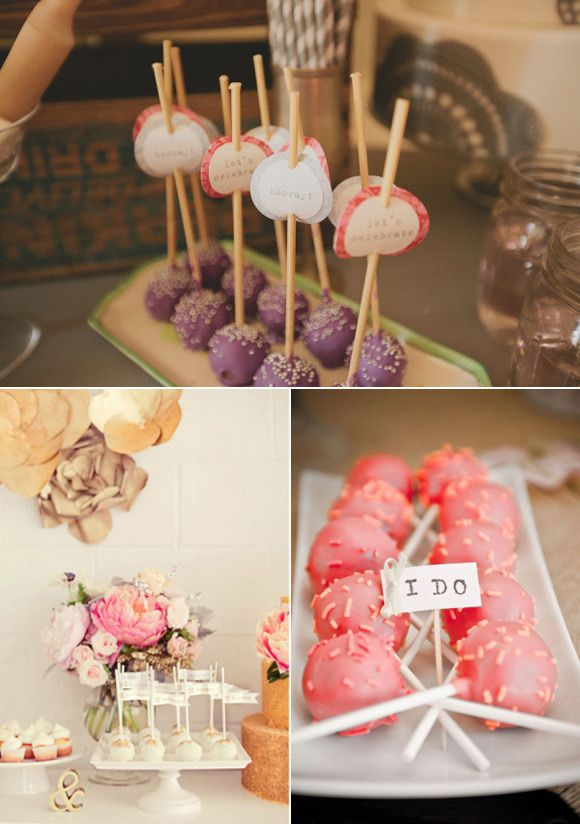 Cake pops para bodas