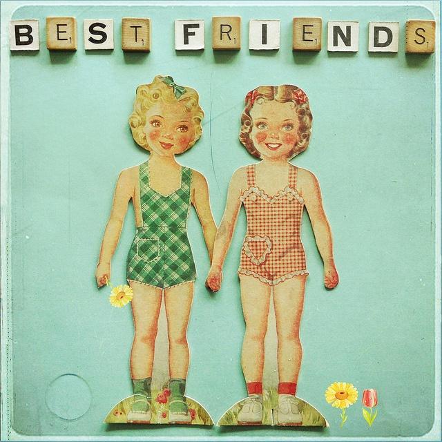 best friends #art #vintage