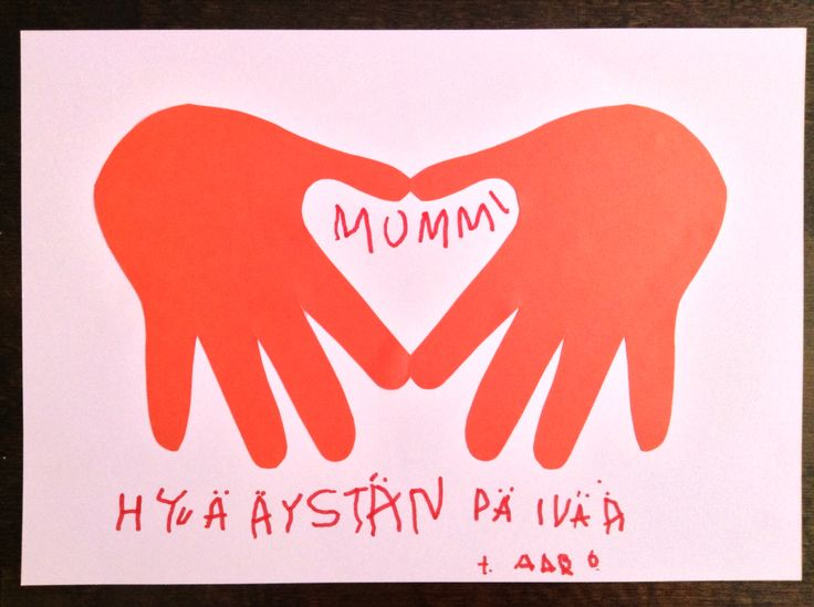 Hand print valentine's day