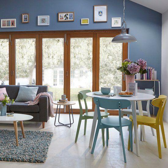 108 besten Living Rooms Blue Bilder auf Pinterest Wohnzimmer in - wohnzimmer weis blau