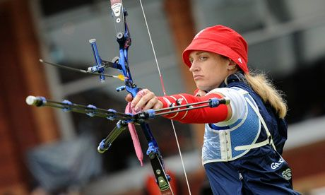 Great Britain's Allison Williamson competes in the Olympics 2012 archery - http://www.PaulFDavis.com/success-speaker (info@PaulFDavis.com)