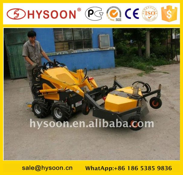 Wheeled Garden Mini Loader tractor mounted grass cutter for sale