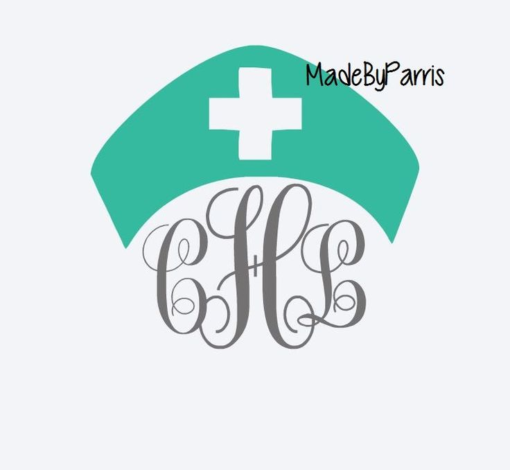 Nurse Hat Monogram, Monogram Decal, Nursing Decal, Yeti Decal, Car Decal, Medical Field Decal, RN Decal, LPN Decal, CNA Decal, Custom Decal by MadeByParris on Etsy