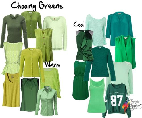 How to choose the right shade of green to make you look great - distinguishing warm and cool undertones