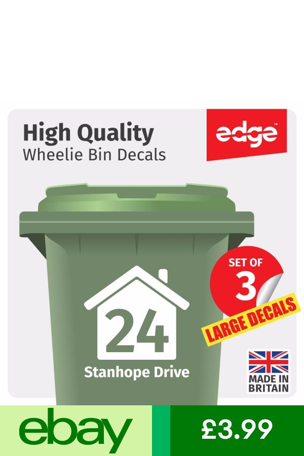 address custom number wheelie bin stencil personalised