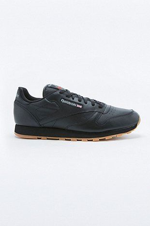 Reebok Classic Black Leather Gumsole Trainers - Urban Outfitters