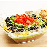 Layered Mexican Dip recipe - Canadian Living--for vegetarians