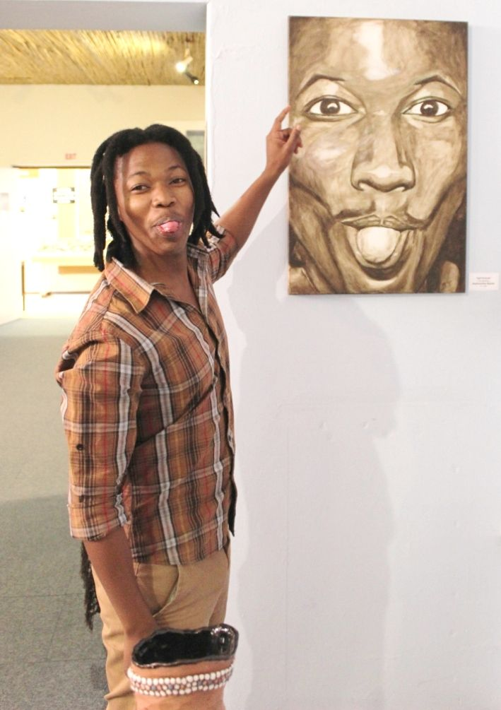 Tongue not-in cheek. A Walter Sisulu University art student