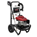 PowerBOSS 2600 PSI Pressure Washer. This unit from PowerBoss tops our chart with it's Honda GCV engine. Honda's reputation is well deserved- durable, easy to start, and quieter than other small engines.    An on-board detergent tank makes washing multiple locations a piece of cake- no sloppy buckets to contend with.