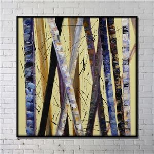 Contemporary Wall Art Trunk Abstract Wall Print with Black Frame 40