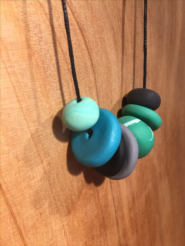 Mint Polymer clay necklace