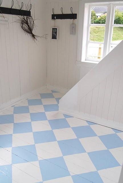 beautiful painted floor