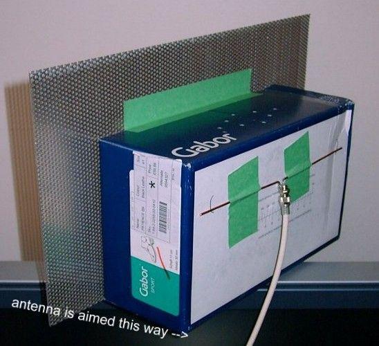 Cardboard Wifi Antenna - Cycmasrrooninna