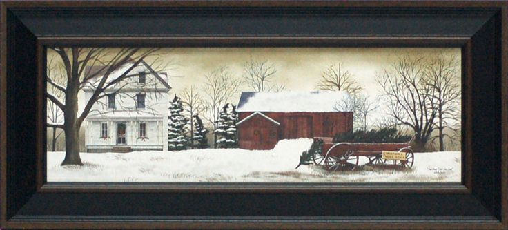 Christmas Trees for Sale Framed Painting Print